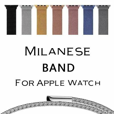 Magnetic Loop Stainless Steel Metal Strap Watch Bands For Apple Watch 38/42MM