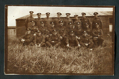 C1920s Photo Card: 21 British Army Soldiers