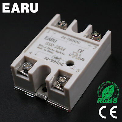 SSR-25AA 25A SSR Solid State Relay & Top/Cover (UK STOCK)