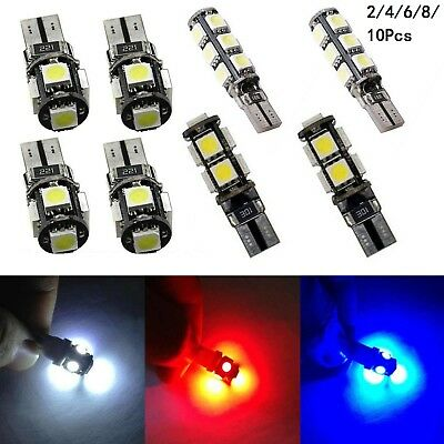 4/6/10 T10 Car Bulbs Led Error Free Canbus 13 Smd Xenon White W5W 501 Side Light