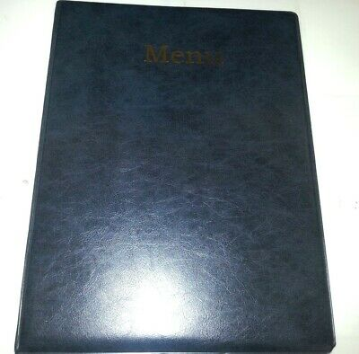 Qty 10 A4 Menu Cover/Folder In Grey/Black Leather Look Pvc