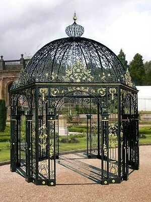 Large Victorian Style Cast Iron Beautiful Gazebo #14