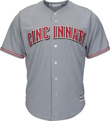MLB Baseball Trikot Cincinnati Reds grau Road Cool base Majestic Jersey