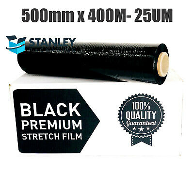 PICK UP ONLY !  1 x  Pallet Wraps 500mm x 450m 25um Black Hand Stretch Film
