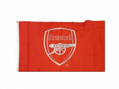 Arsenal Football Club Red And Silver Crest Flag Badge Fan Match Banner Gunners