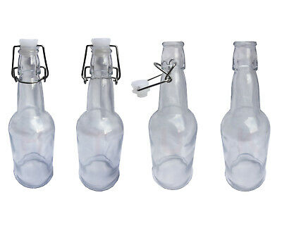 Swing Top Bottle 500ML Bottle With Stopper Classic Style Clear Glass Quality