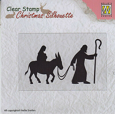 Nellie Snellen Christmas Silhouette Clear Stamps Nativity