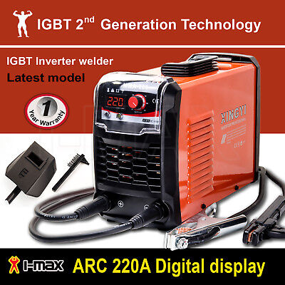 ARC 220Amp Stick Welder DC Inverter MMA Welding Machine IGBT Portable 10A Plug