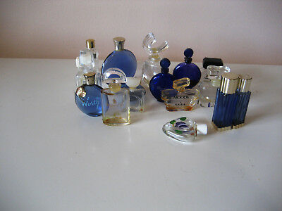 Exciting lot of 18 mixed miniature perfume bottles Worth Cardin Matchabelli