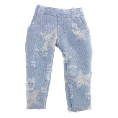 MagiDeal 1/6 BJD Clothes Blue Star Ripped Pants for YOSD AOD Doll Clothing