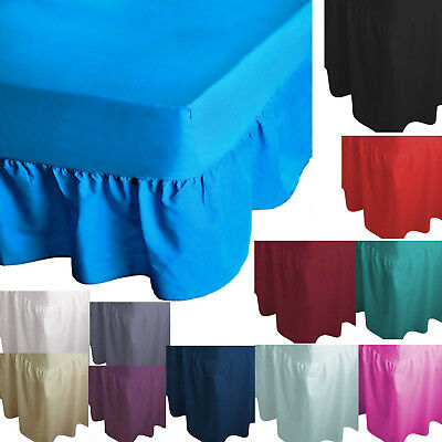 Stylish Luxury Quality Valence Fitted Sheets All Sizes Available Frilled Bottom