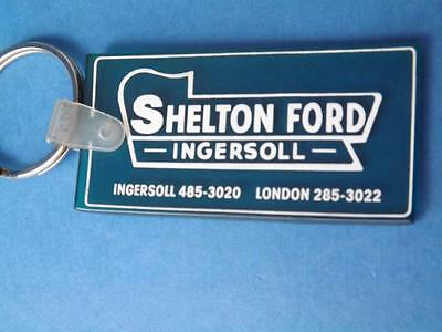 Shelton Ford Car Truck Dealer Keychain Key Ring Fob Ingersoll Ontario Collector