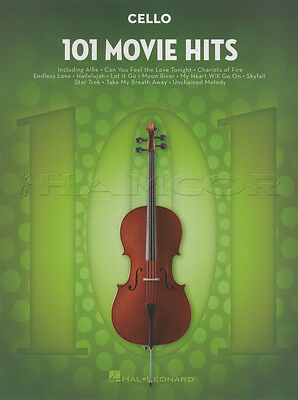 101 Movie Hits for Cello Sheet Music Book Skyfall Mission Impossible Star Trek
