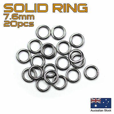 20x Solid Ring - 7.6mm - 304 Stainless Steel - Fishing Rigs, Jig Assist