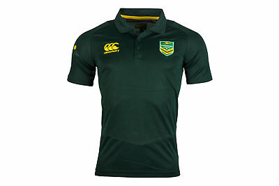 Canterbury Australia Kangaroos 2017 Players Rugby Polo Shirt Top Sports Training