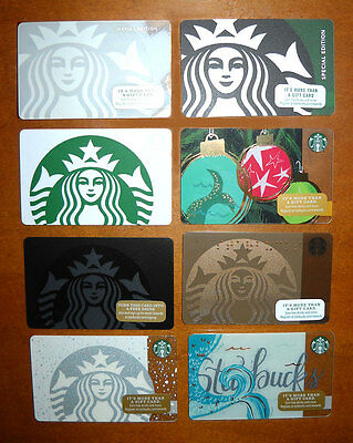 Starbucks Gift Card Lot Siren, Mermaid Logo, Special Edition Limited 8 Cards New