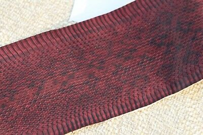 Snakeskin Snake Skin Leather Craft Supply backed with farbic