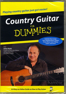 Country Guitar for Dummies DVD Learn How to Play 24 Beginner Lessons Arlen Roth