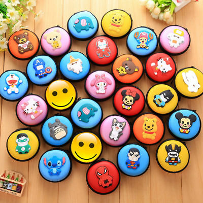 Cartoon Figure Portable Earphone Bag Coin Purse Case Cable Storage Box 33Pattern