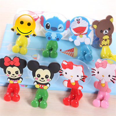 Cartoon Toothbrush Holder Mount Suction Cup Grip Wall Rack Bathroom Kids Gift