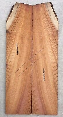 English yew bookmatched guitar headplate / head veneer blank / inlay set