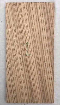 Zebrawood / zebrano 1 piece guitar headplate / head veneer blank / inlay set