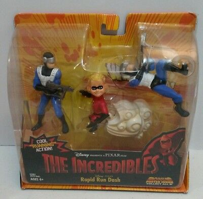 2003 The Incredible - Rapid Run Dash Action Figures - Cool Running Action
