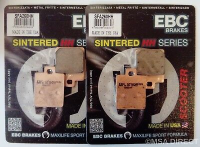 Piaggio MP3 125 / 250 / 300 / 400 / 500 EBC Sintered FRONT Brake Pads SFA260HH