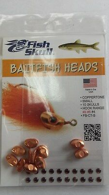 "Fish Skull Baitfish Heads "" Coppertone ""  Small"