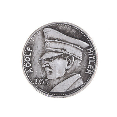 1PC Silver Plated Coin Germany Hitler Commemorative Coin Collection Gift EV