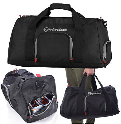 TaylorMade Golf 2017 Players Duffle Bag Holdall - Black/Grey/Red RRP£50
