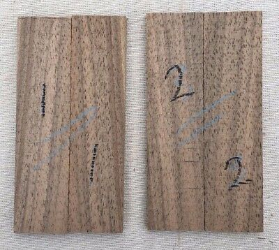 English walnut bookmatched razor scale / inlay sets