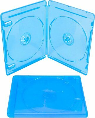 (3) Empty Blu-ray Cases 10mm 2-Disc DOUBLE w/ Logo Authentic Replacement NEW!