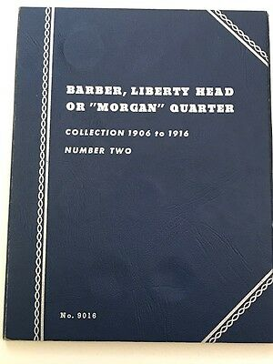 Barber Quarters Whitman  Book 2 1906-1916 ( 8 Coins)