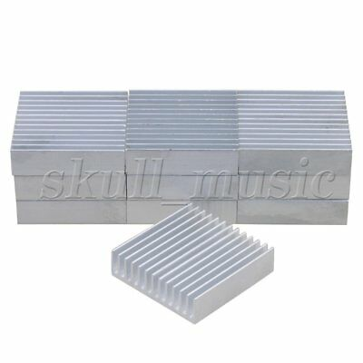 10pcs 40x40x11mm Silver Aluminium Heat Sink Cooling Fin Radiator Heatsink BQLZR