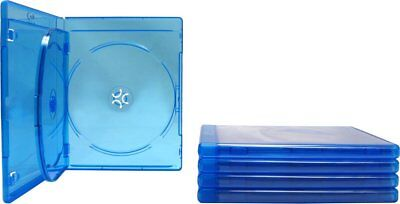 (5) Empty Blu-ray Cases 3-Disc TRIPLE w/ Tray & Logo Replacement Case NEW!