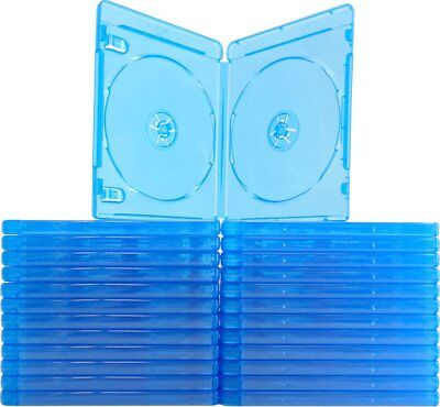 (25) Blu-ray Cases 10mm 2-Disc DOUBLE w/ Logo Empty Replacement Case NEW!