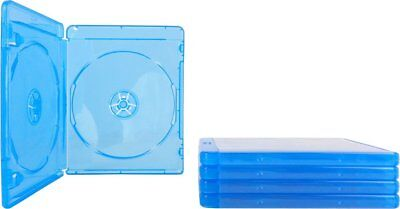 FIVE (5) Blu-ray Cases 10mm 2-Disc DOUBLE w/ Logo Empty Replacement Case NEW!