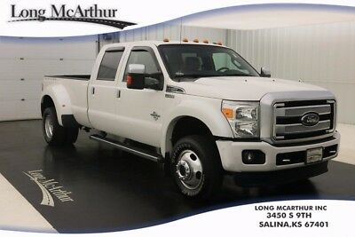 2014 Ford F-450 PLATINUM LARIAT 4WD 6 SPEED AUTOMATIC MSRP $73915 POWERED MOONROOF NAVIGATION PLATINUM LEATHER SEATS GOOSNECK AND 5TH WHEEL KIT