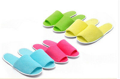 1 Pair Breathable Disposable Slippers Hotel Slippers SPA Slippers Summer ShoesLT