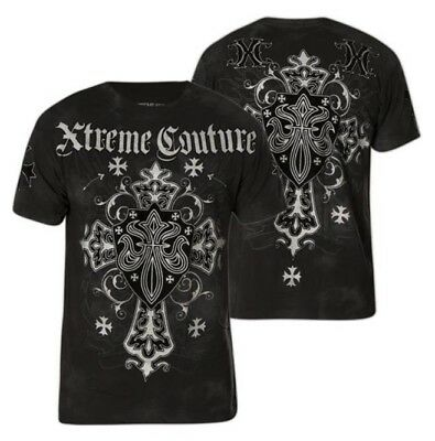 Xtreme Couture AFFLICTION Mens T-SHIRT CHARLIE FOXTROT CROSS WINGS MMA UFC M $40