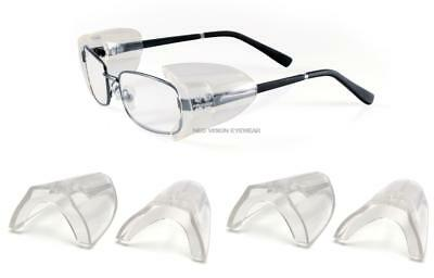 3 Pair Pyramex SS100 Flexible Clear Side Shield For Safety Glasses Slip On Z87+