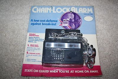 NEW OLD STOCK NOS  CHAIN LOCK ALARM - Made in Hong Kong 1978 - SEALED DOOR