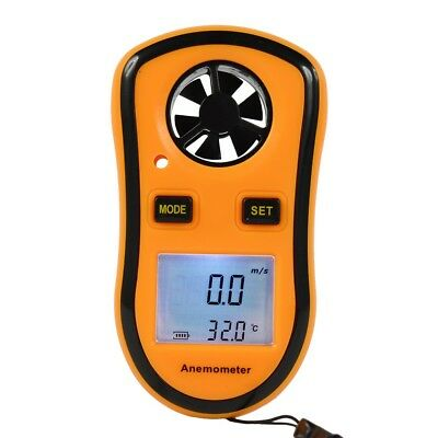 GM8908 LCD Wind Speed Gauge Meter Anemometer NTC Thermometer