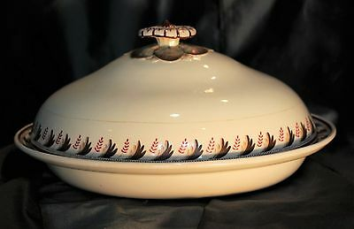 Georgian Wedgwood Enamel Decorated Queensware Covered Vegetable Tureen c. 1820
