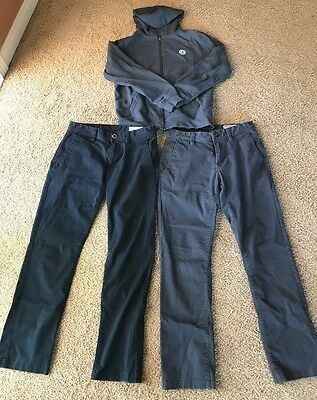 Volcom Boys Pants 28 And Hooded Sweat Shirt Medium Lot Of 3 Items