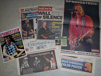Bruce Springsteen magazine/newspaper lot