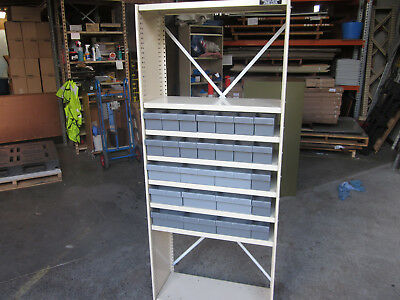 Brownbuilt Steel Shelving c/w Australian made Fischer Plastic Spare Parts Trays