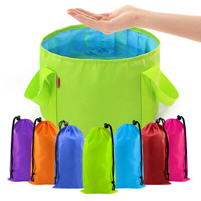 15L Camping Fishing Collapsible Folding Water Bucket Pail Carrier Container