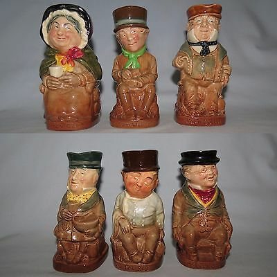 Royal Doulton set 6 early Dickens tobies COMPLETE INSTANT COLLECTION